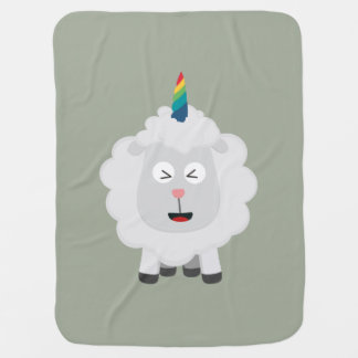 Unicorn Sheep with rainbow Zffz8 Baby Blankets