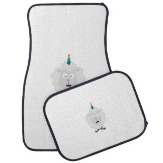 Unicorn Sheep with rainbow Zffz8 Car Mat