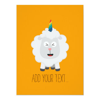 Unicorn Sheep with rainbow Zffz8 Card