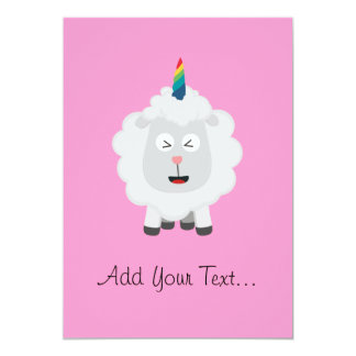 Unicorn Sheep with rainbow Zffz8 Card