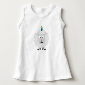 Unicorn Sheep with rainbow Zffz8 Dress