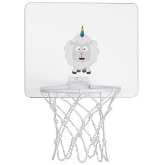 Unicorn Sheep with rainbow Zffz8 Mini Basketball Hoop