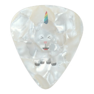Unicorn Sheep with rainbow Zffz8 Pearl Celluloid Guitar Pick