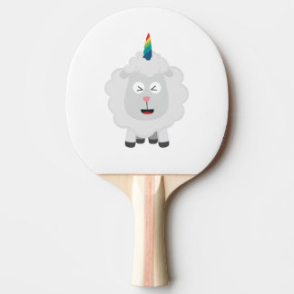 Unicorn Sheep with rainbow Zffz8 Ping Pong Paddle