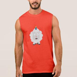 Unicorn Sheep with rainbow Zffz8 Sleeveless Shirt