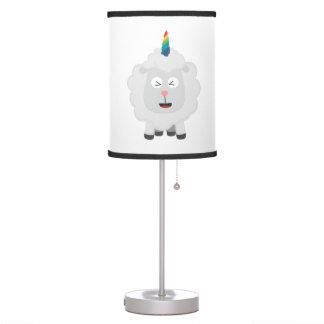Unicorn Sheep with rainbow Zffz8 Table Lamp