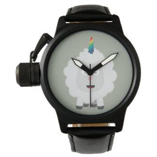 Unicorn Sheep with rainbow Zffz8 Watch