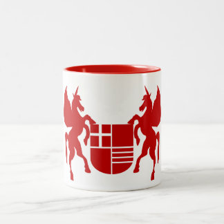 Unicorn & Shield Two-Tone Coffee Mug