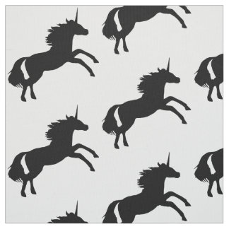 Unicorn Silhouette Fabric