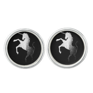 UNICORN - SILVER CUFFLINKS