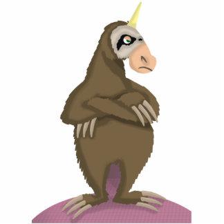 Unicorn Sloth Cutout Sculpture Standing Photo Sculpture