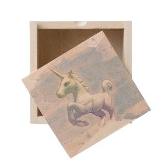 Unicorn Small Wood Keepsake Box (Moon Dreams)