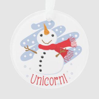 Unicorn Snowman Ornament