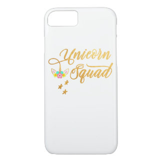 Unicorn Squad. Calligraphy, Floral Horse Face iPhone 8/7 Case