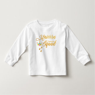 Unicorn Squad. Calligraphy, Floral Horse Face Toddler T-shirt