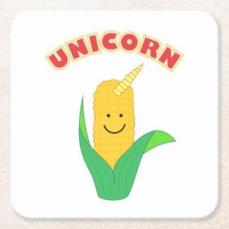Unicorn Square Paper Coaster