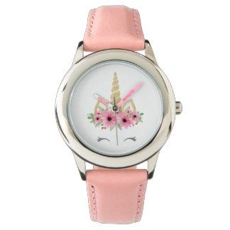 Unicorn Stainless Steel Pink Watch