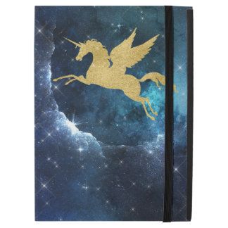 "Unicorn Stardust Galaxy Constellation Blue Gold iPad Pro 12.9"" Case"