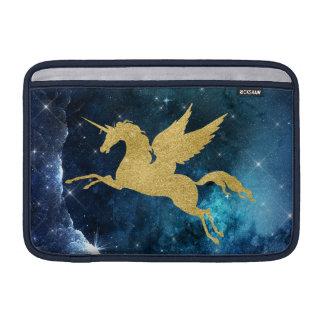 Unicorn Stardust Galaxy Constellation Blue Gold MacBook Sleeve