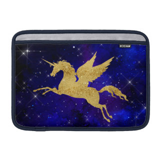 Unicorn Stardust Galaxy Constellation Blue Gold Sleeve For MacBook Air