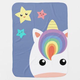 Unicorn & Stars Baby Blanket