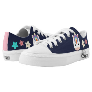 Unicorn & Stars Low-Top Sneakers