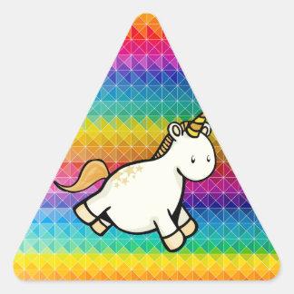 Unicorn Triangle Sticker