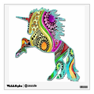 Unicorn Stomping Colorful Wall Decal