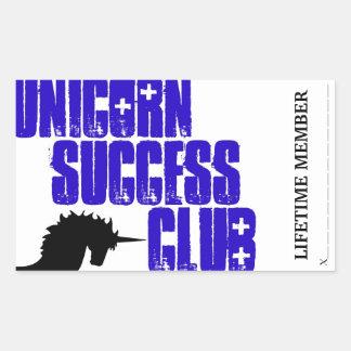 Unicorn success club membership stickers