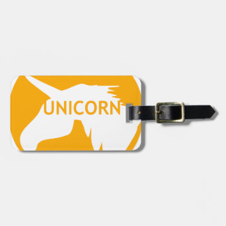 Unicorn sun traffic sign luggage tag