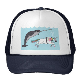 Unicorn Swimming With Narwhal Trucker Hat