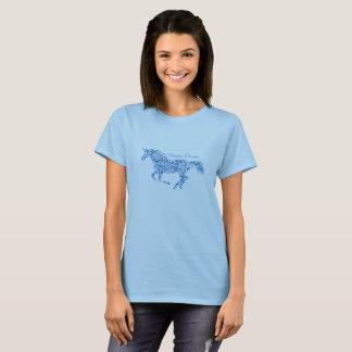 Unicorn swirl design T-shirt