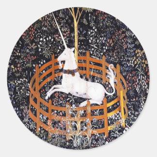 Unicorn Tapestry #7 Round Sticker