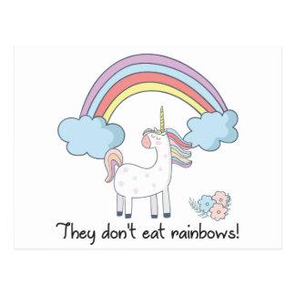 Unicorn tee shirt postcard