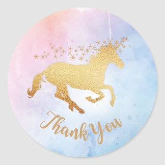 Unicorn Thank You Stickers
