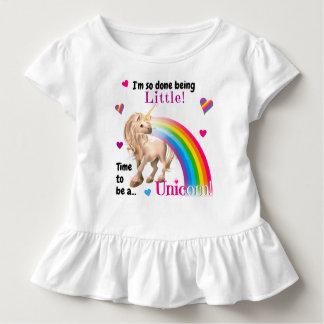 Unicorn Toddler Ruffled Tee • Girls Unicorn Tshirt