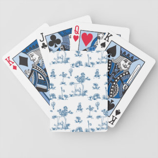 Unicorn Toile Playing Cards