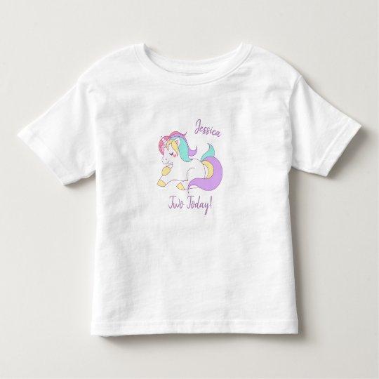 Unicorn two today t-shirt