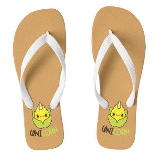UniCORN (unicorn and corn) Flip Flops