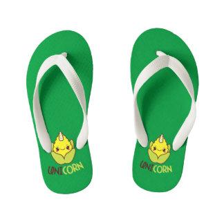 UniCORN (unicorn and corn) Kid's Flip Flops