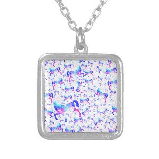 Unicorn Universe Pattern Silver Plated Necklace