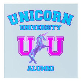 Unicorn University Acrylic Print