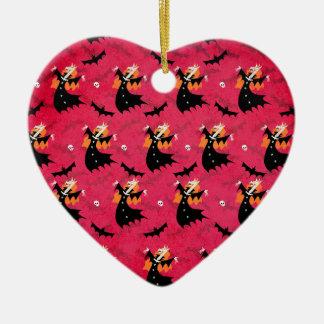 Unicorn Vampire Ceramic Heart Ornament