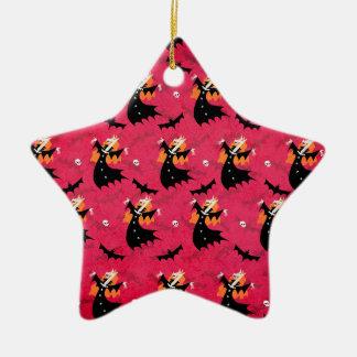 Unicorn Vampire Ceramic Star Ornament