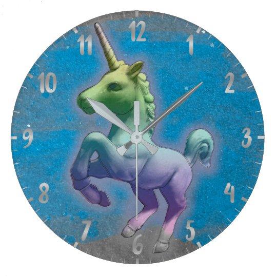 Unicorn Wall Clock | Blue Nebula