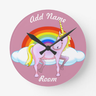 Unicorn Wall Clock (Customizable)