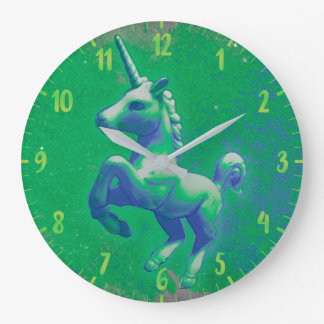 Unicorn Wall Clock | Glowing Emerald