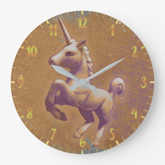 Unicorn Wall Clock | Metal Lavender