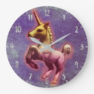 Unicorn Wall Clock   Purple Mist