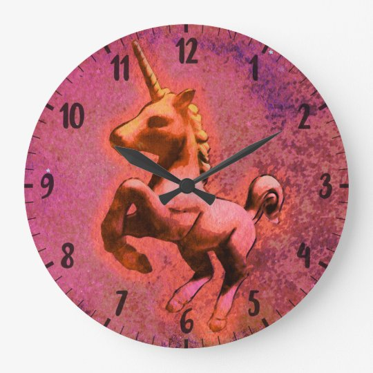 Unicorn Wall Clock | Red Intensity